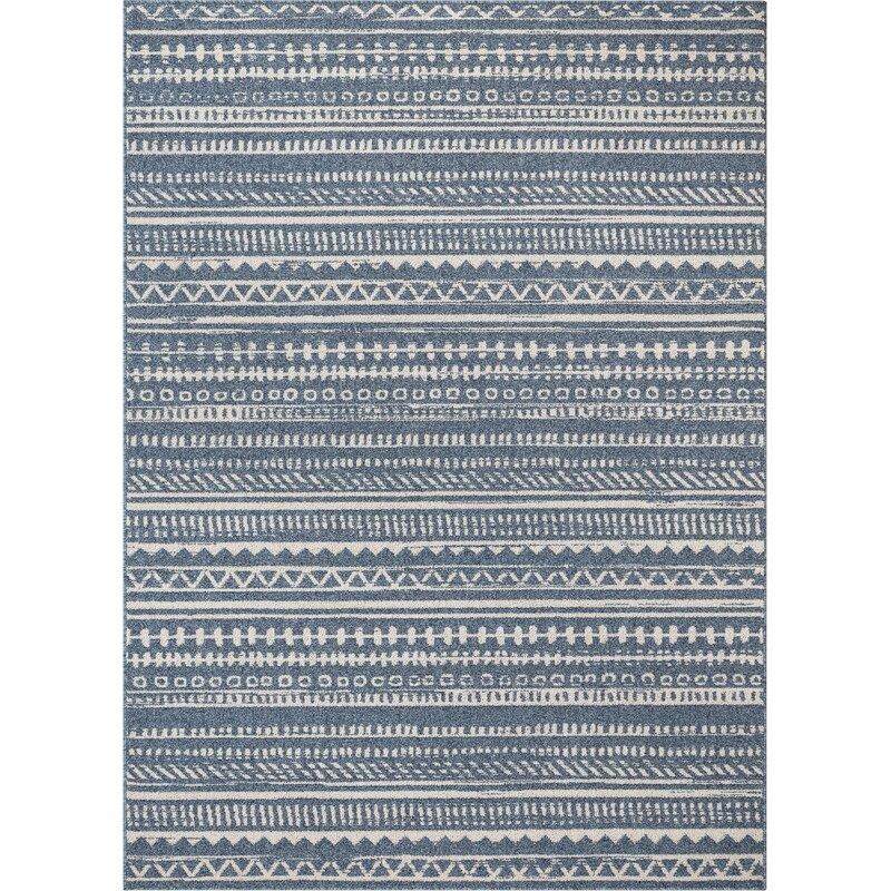 Well Woven Verona Easton Modern Tribal Geometric Blue Area Rug