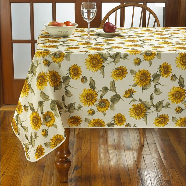 August Grove Yacine Sunflower Tablecloth Amp Reviews Wayfair