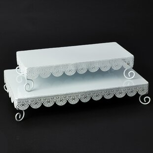 2 Piece Rectangle Eyelet Stand Set