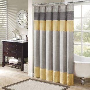 Yellow Gold Shower Curtains You Ll Love Wayfair