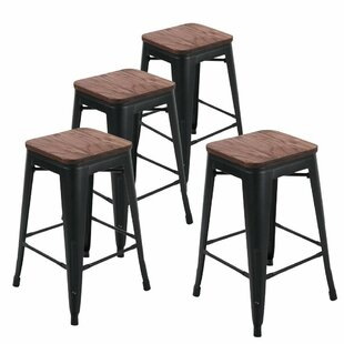 Williston Forge Bednarz 24 Bar Stool (Set..