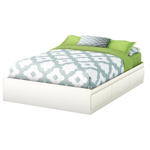south shore step one fulldouble storage platform bed reviews wayfair - Full Platform Bed Frame