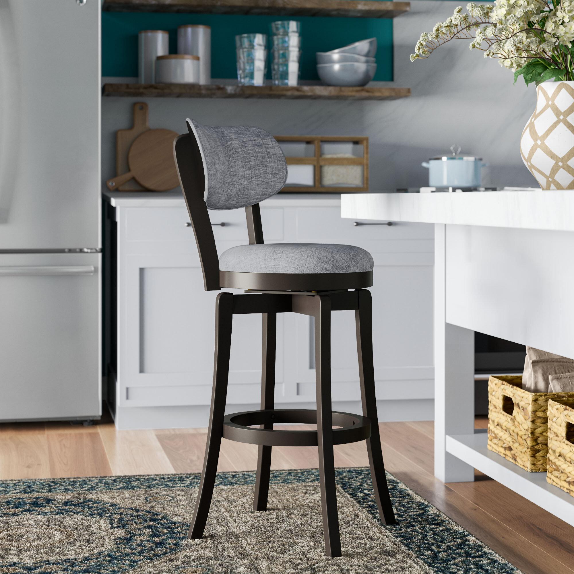 Pleasing Red Barrel Studio Jimenes Bar Counter Swivel Stool With Lamtechconsult Wood Chair Design Ideas Lamtechconsultcom