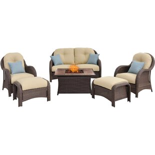 Dall 6 Piece Sofa Set with Cushions