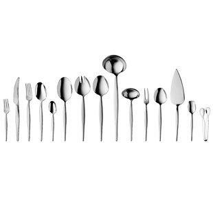 Ralph Kramer Finesse 72 Piece 18/10 Stainless Steel Flatware Set, Service for 12