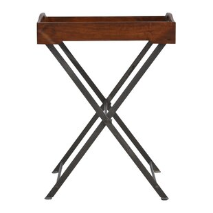 Bowie Cross Iron Base Tray Table