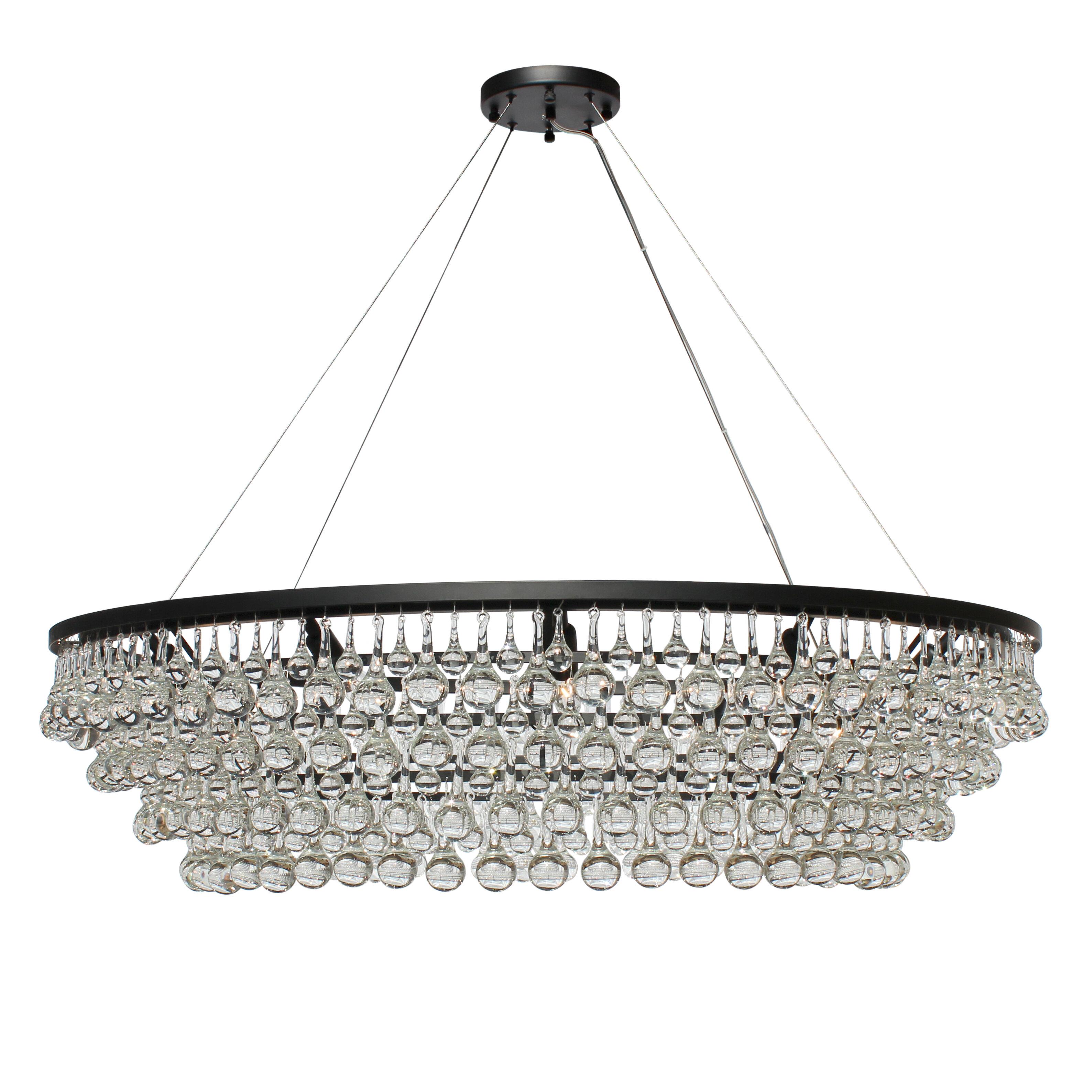 Willa Arlo Interiors Jimmy Glass Drop 12 Light Crystal Chandelier