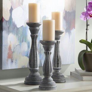 Multiple Sizes Wooden Twist Tea Light Holder With Hand Painted Flower Design