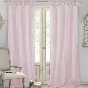 Hippolyte Solid Semi-Sheer Tab Top Single Curtain Panel by Lark Manor