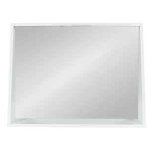 Charlton Home Voluntown Contemporary Recessed Wall Accent Mirror