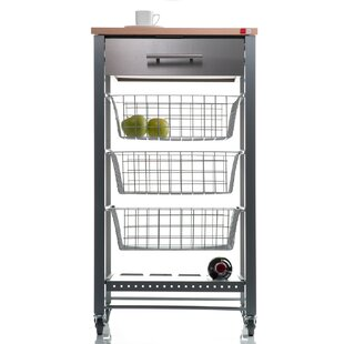 Noam Kitchen Trolley With Manufactured Wood Top By Belfry Kitchen