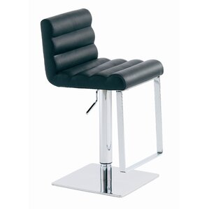 Fanning Adjustable Height Swivel Bar Stool by Nuevo