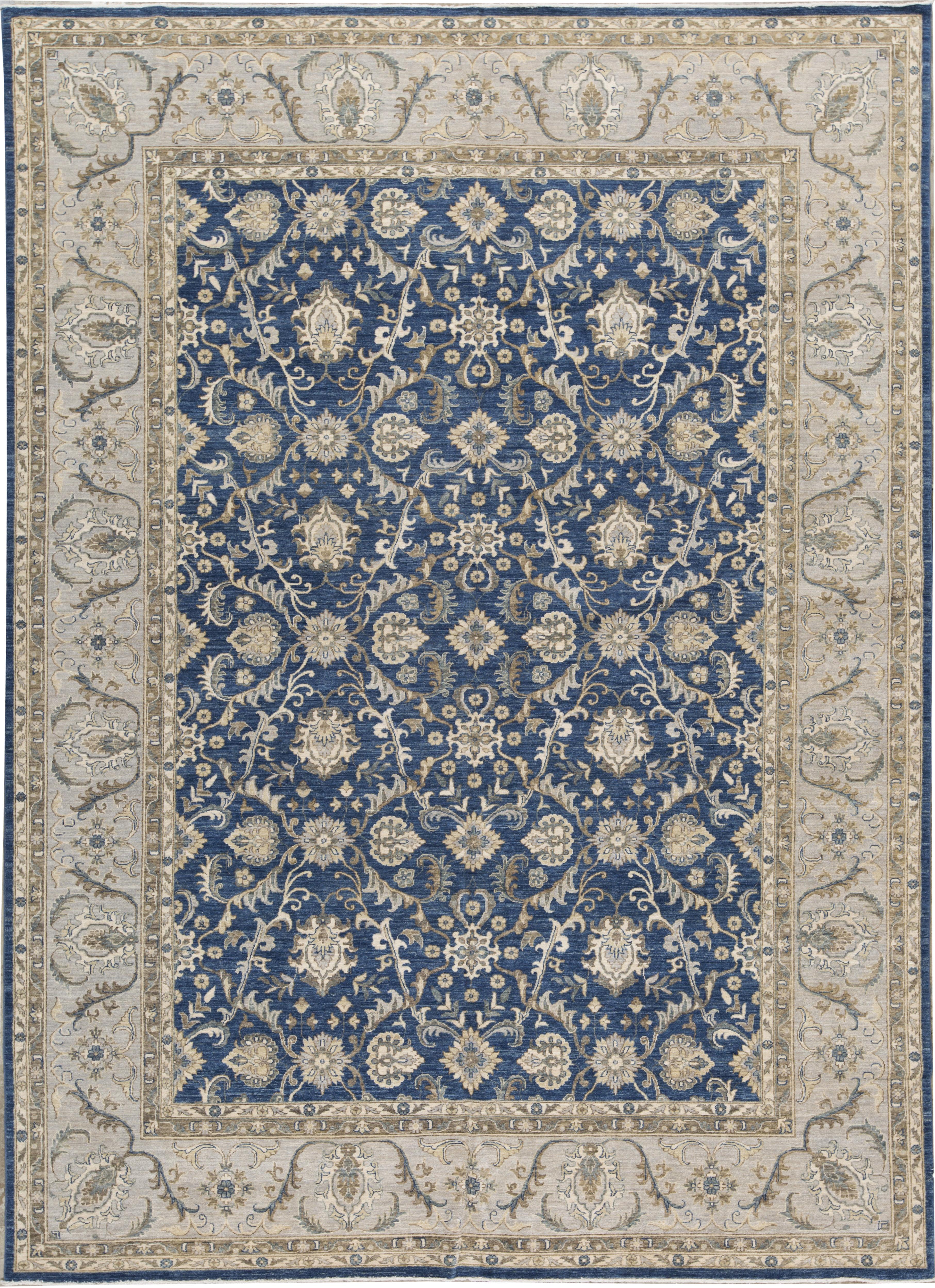 Bokara Rug Co Inc Ziegler Oriental Hand Knotted Wool Blue Gray Area Rug Wayfair