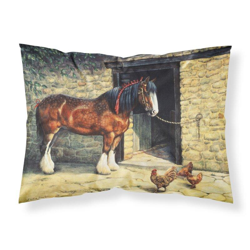 East Urban Home Horse And Chickens Pillowcase Wayfair