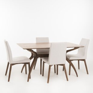 Dougal 5 Piece Dining Set & Modern u0026 Contemporary Dining Room Sets | AllModern