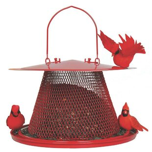 Sweet Corn Products Llc Cardinal Caged Tube Bird Feeder