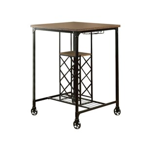 Weber I Wine Rack Pub Table by Gracie Oaks