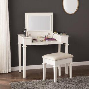 Charlton Home Hutchens Vanity Set with Mirror