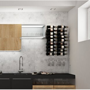 Wall Series Contemporary Wet Bar 52 Bottle Wall Mounted Wine Rack