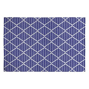 Top Holli Zollinger Nautical Knots Blue Geometric Area Rug ByDeny Designs