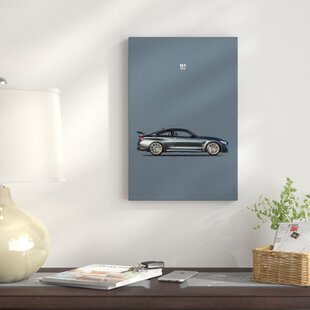 'BMW M4 GTS' Graphic Art Print on Canvas by East Urban Home