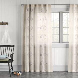 Beige Grey 38/'/' Width 45/'/' Length Linen Back Tab Curtain Panel Custom Linen Curtain White Drapery