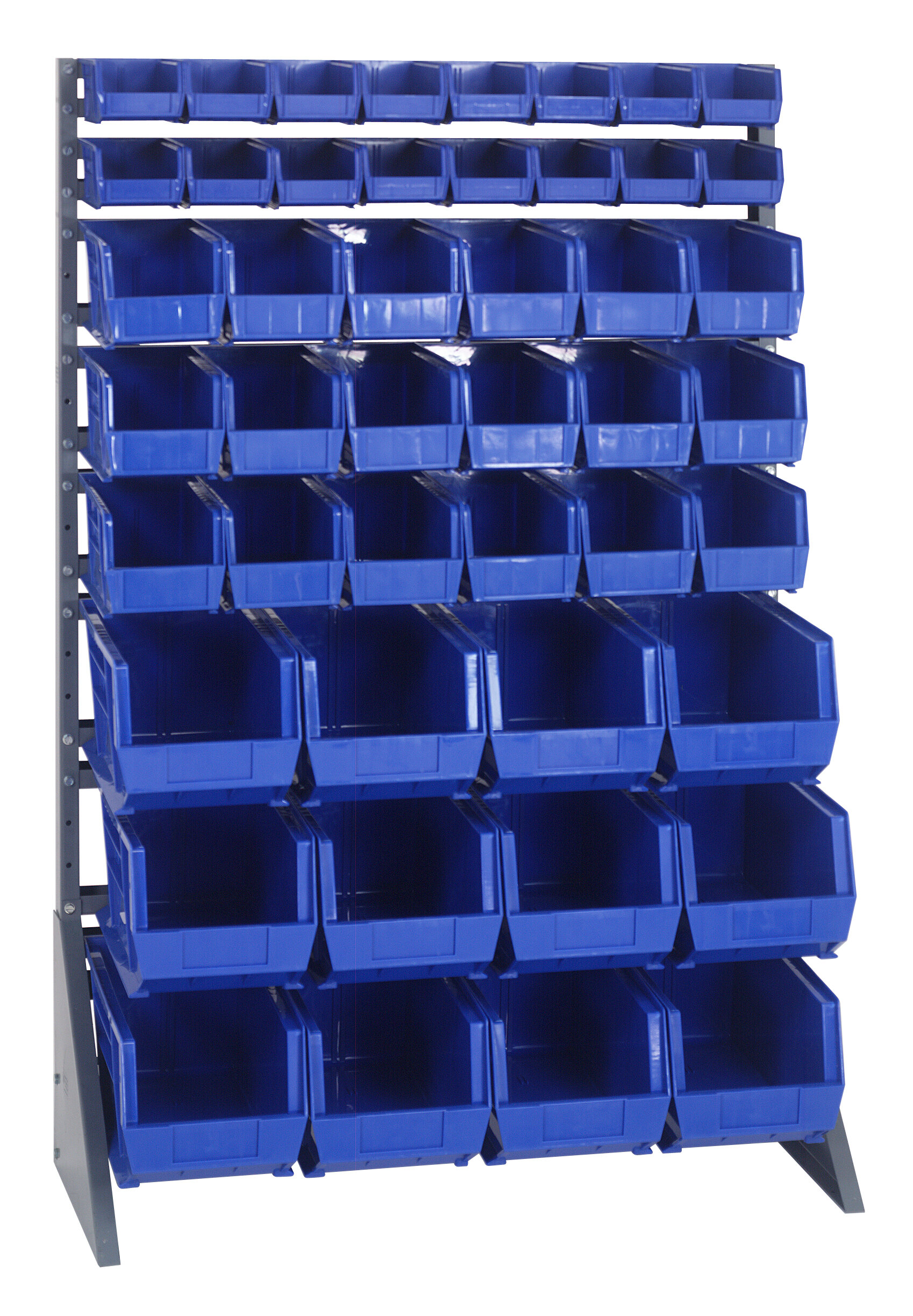 Quantum Double Sided Steel Rail Rack With Various Bin Sizes Complete Package Wayfair