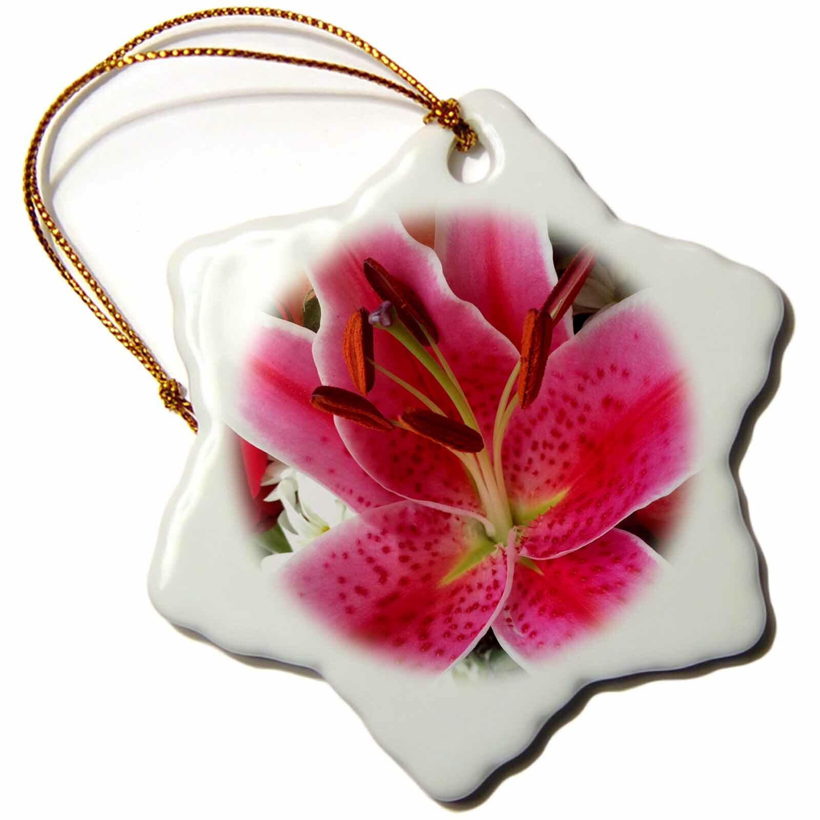 Rosalind Wheeler Tiger Lilly Snowflake Holiday Shaped Ornament Wayfair