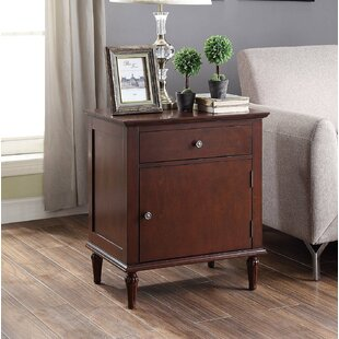 Hanish 1 Drawer Nightstand by Alcott Hill