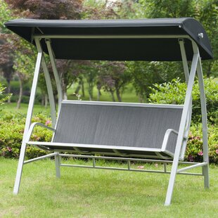 Latura Outdoor PVC-coated polyester Porch Swing with Stand