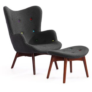 Contour Wing back Chair and Ottoman By Kardiel