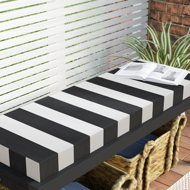 Knife Edge Outdoor Sunbrella Bench Cushion With Zipper