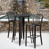 Rumi 3 Piece Bar Height Dining Set