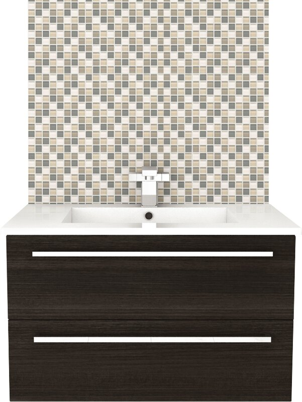"cutler kitchen & bath silhouette 30"" wall hung vanity set"