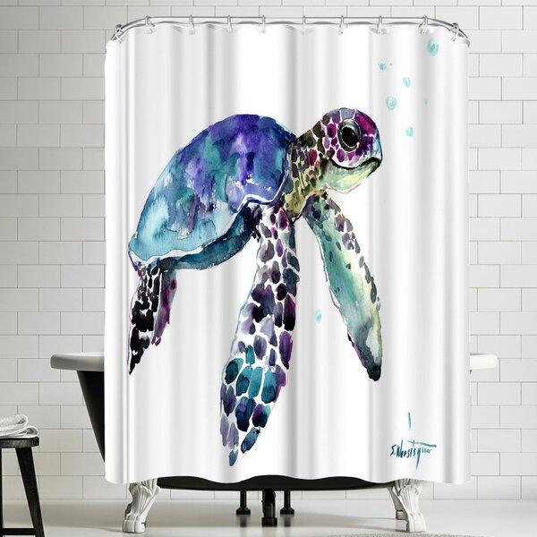 East Urban Home Suren Nersisyan Sea Turtles Ii Single Shower Curtain Wayfair