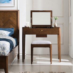 Brayden Studio Ellsinore Vanity Set with Mirror