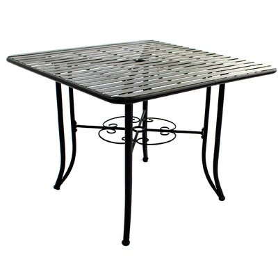 Romona Powder Coated Steel Dining Table by Fleur De Lis Living Fresh