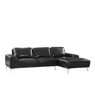 Wrought Studio Gayden Leather Sectional