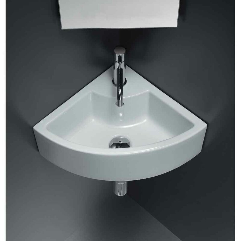 """Ceramic 19"""" Wall Mount Bathroom Sink with Faucet"""