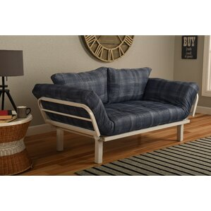 Everett Convertible Lounger in Dungaree Futon and Mattress by Ebern Designs