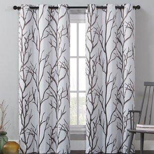 Southold Nature Fl Flower Room Darkening Grommet Single Curtain Panel