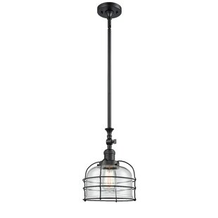 Breakwater Bay Harber Cage 1-Light Bell Pendant