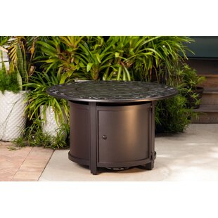 Fire Sense Longpoint Aluminum Propane Fire Pit Table