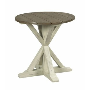 Wesley Trestle End Table by Highland Dunes