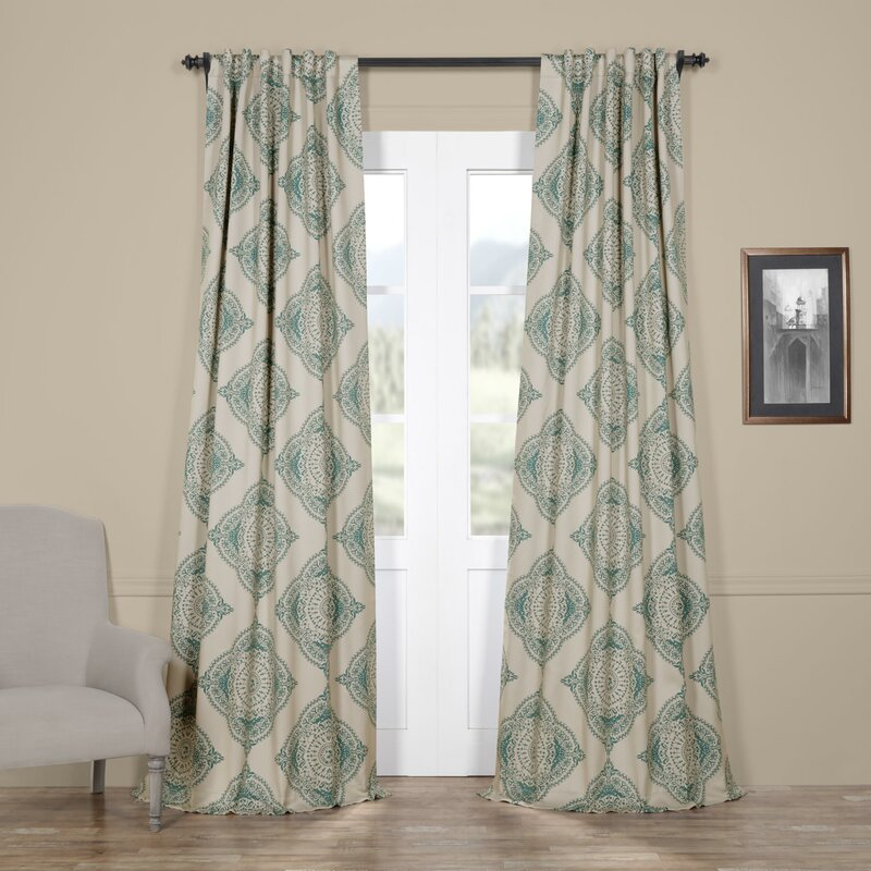Alessandro Damask Blackout Thermal Single Curtain Panel
