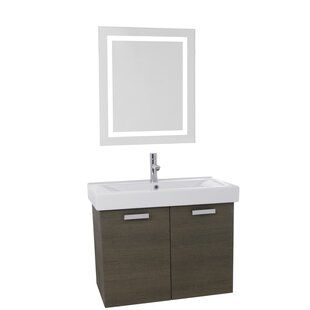 Cubical 39 Single Bathroom Vanity Set with Mirror by Nameeks Vanities