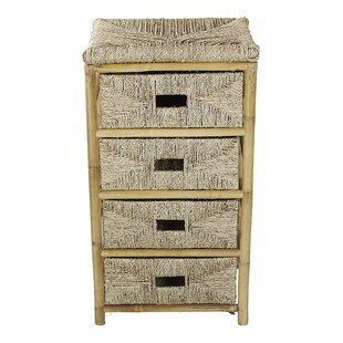 Elmira 4 Drawer Bamboo Accent Chest by Bay Isle Home