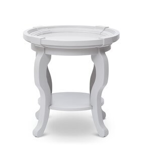 Everts Round End Table with Storage by August Grove