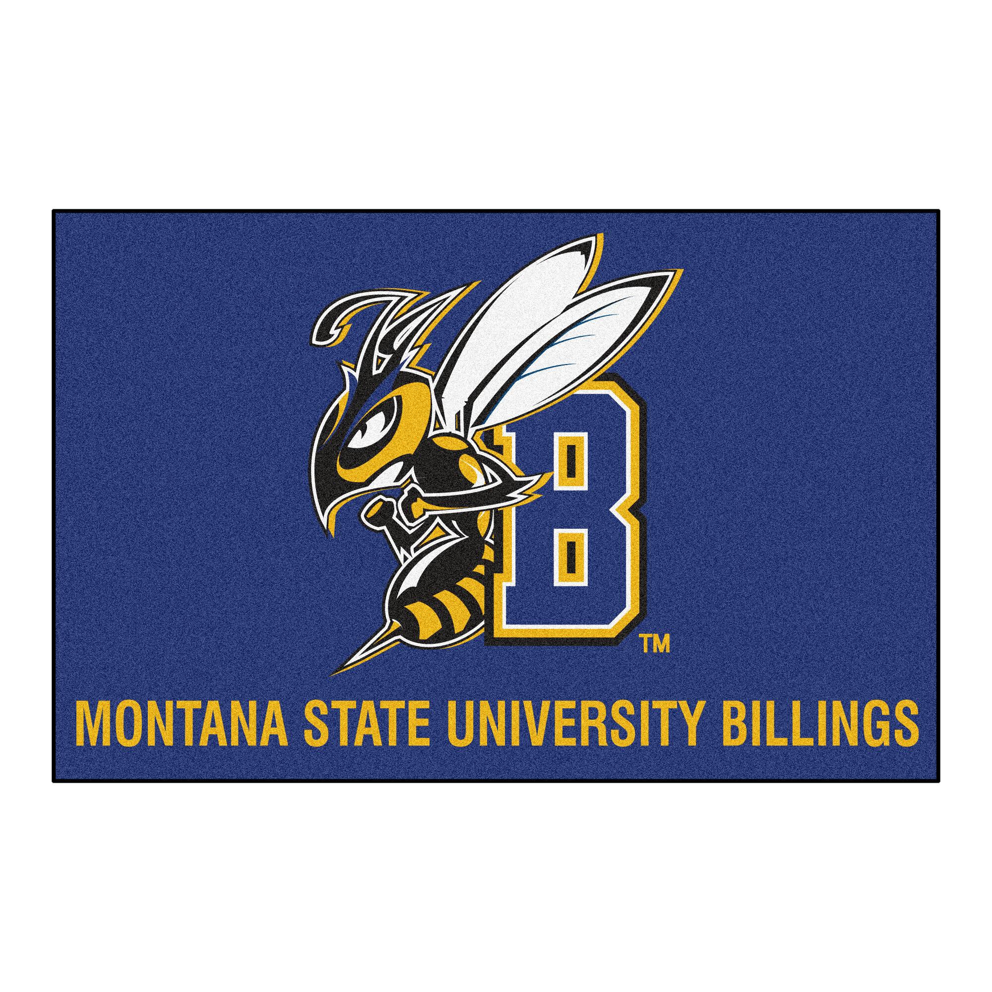 Fanmats Montana State University Billings 30 In X 19 In Non Slip Indoor Only Door Mat Wayfair