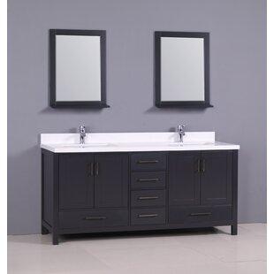 Flannery 72 Double Bathroom Vanity Set ByEbern Designs